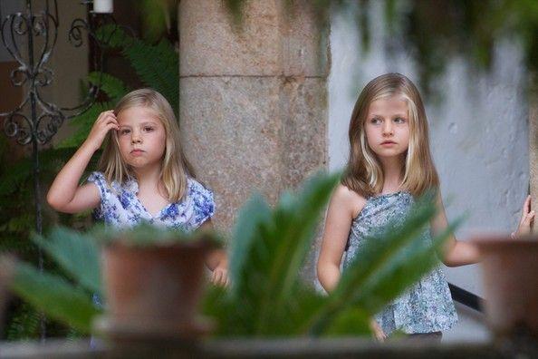 "Princess Leonor Photos - Princess Leonor of Spain (R) and Princess Sofia of Spain (L) visit ""La Granja"" (Big Historical Mansion) on August 5, 2013 in Esporles, Palma de Mallorca, Spain. - Spanish Royals Visit La Granja in Mallorca"