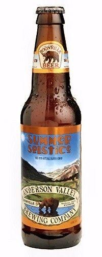 Cerveja Anderson Valley Summer Solstice, estilo Cream Ale, produzida por Anderson Valley , Estados Unidos. 5.6% ABV de álcool.
