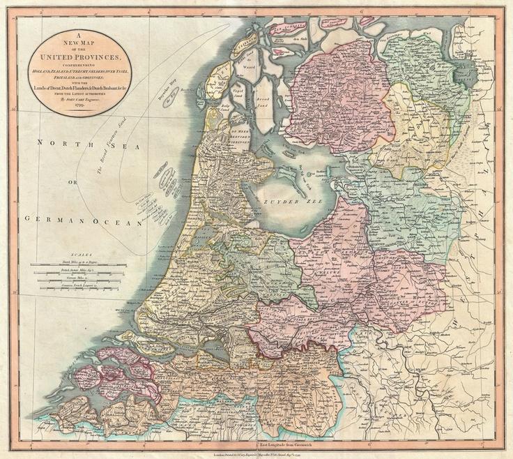 Vintage Map of The Netherlands