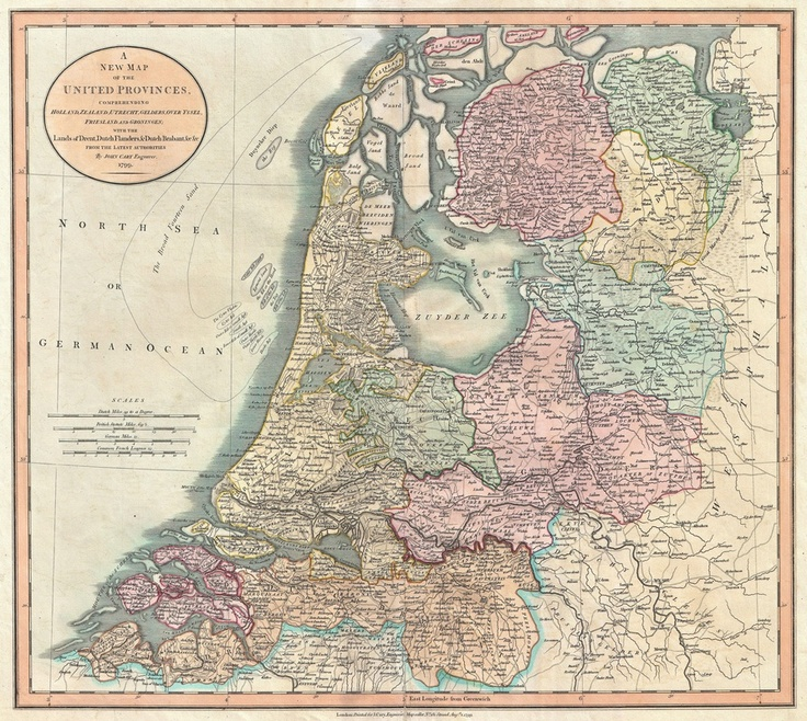 Vintage Map of The Netherlands