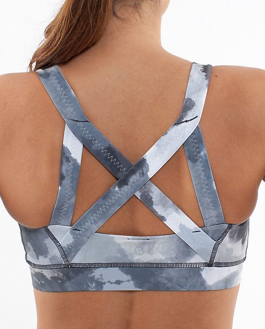 Lululemon sports bra - I have one in black, but I regret not buying more. Best bra ever. Works great for bigger boobs and crossfit.