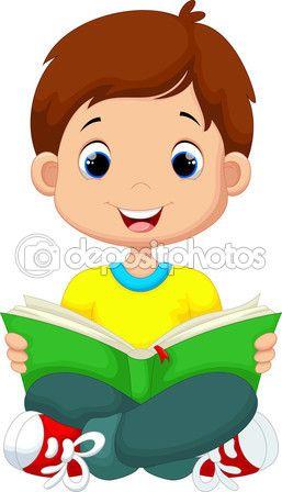 Niño leyendo un libro — Archivo Imágenes Vectoriales #85857766