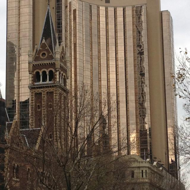 St Michael's, Louis Vuitton and the Hyatt, Collins Street, Melbourne