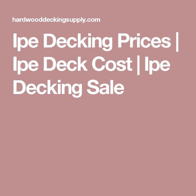 Mer Enn 25 Bra Ideer Om Decking Prices P Pinterest
