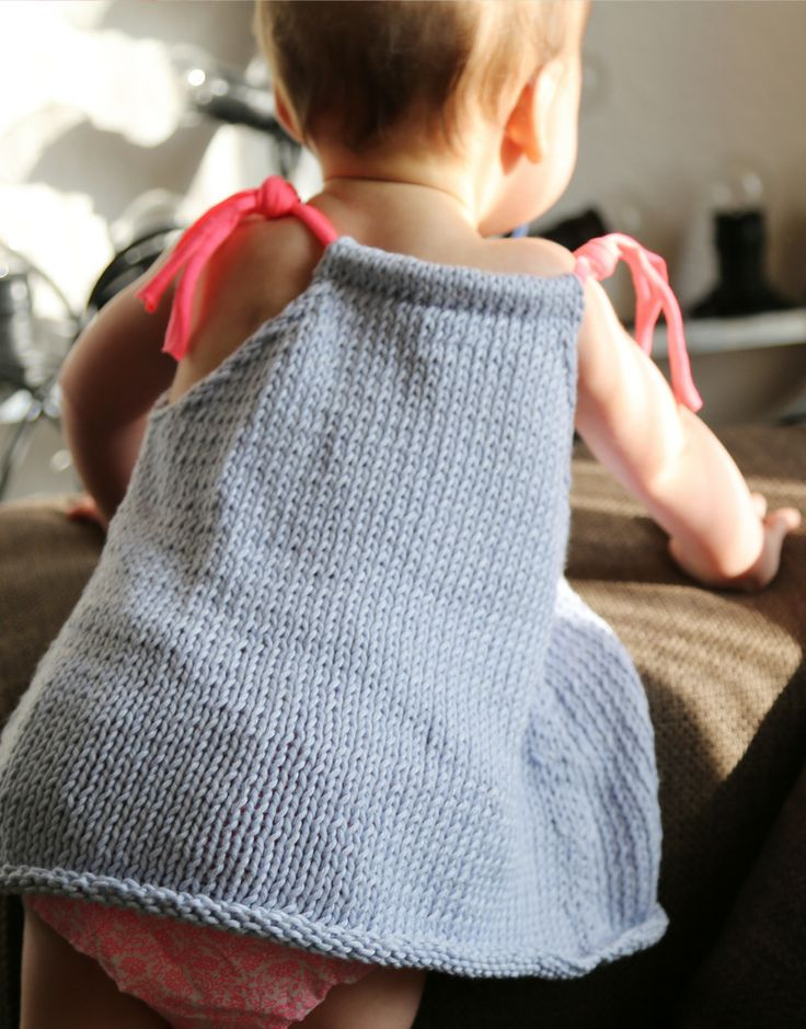 Sweet knit dress for baby