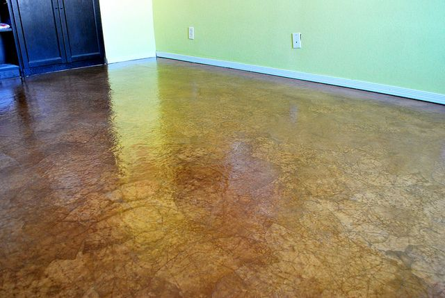 Floor Cover Made Of Brown Craft Paper Stain And Glue