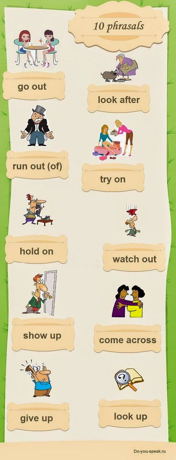 FACE UP to ENGLISH: 10 Phrasal verbs comuns. Significados e exemplos