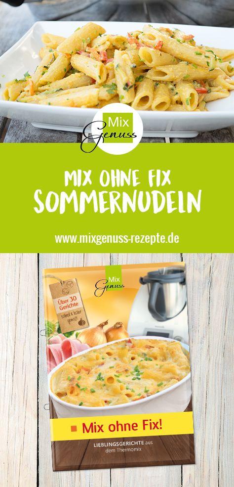 Sommernudeln mit Gemüse – MixGenuss Blog