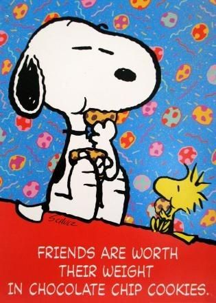 Snoopy and Chocolate Chip Cookies Poster: Snoopn4pnuts.com