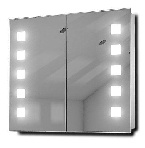 Excel Fluorescent Illuminated Bathroom Mirror Cabinet With Sensor Shaver