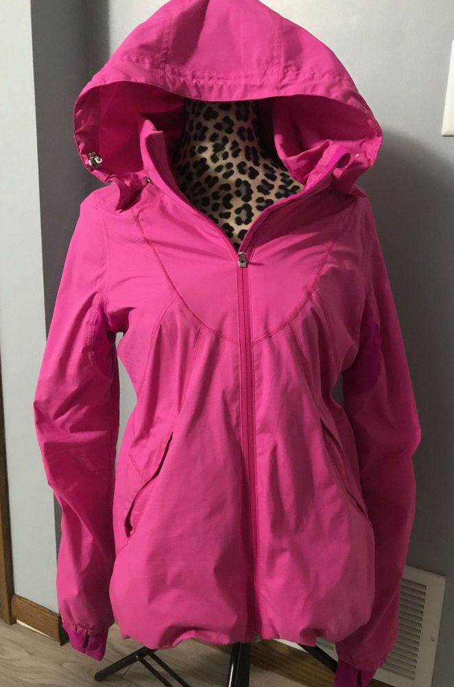 74be38b163a Lululemon Size 8 Zip-Up Hooded Belle Jacket Hot Pink Rain Coat  fashion   clothing  shoes  accessories  womensclothing  activewear (ebay link)