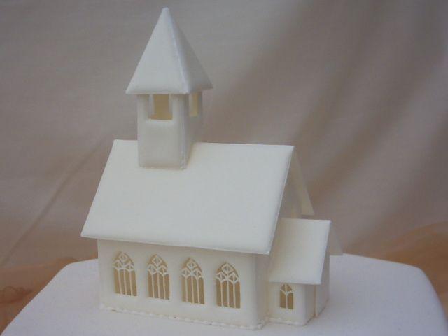 Styrofoam Church Cake Topper