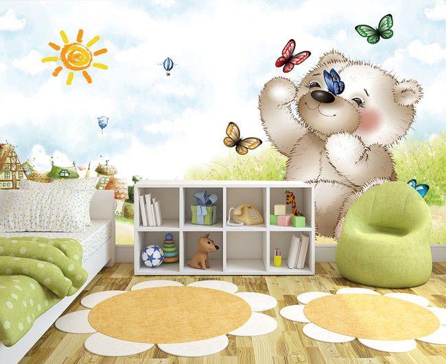 9 best images about papier peint chambre d 39 enfant on pinterest animaux bebe and d. Black Bedroom Furniture Sets. Home Design Ideas