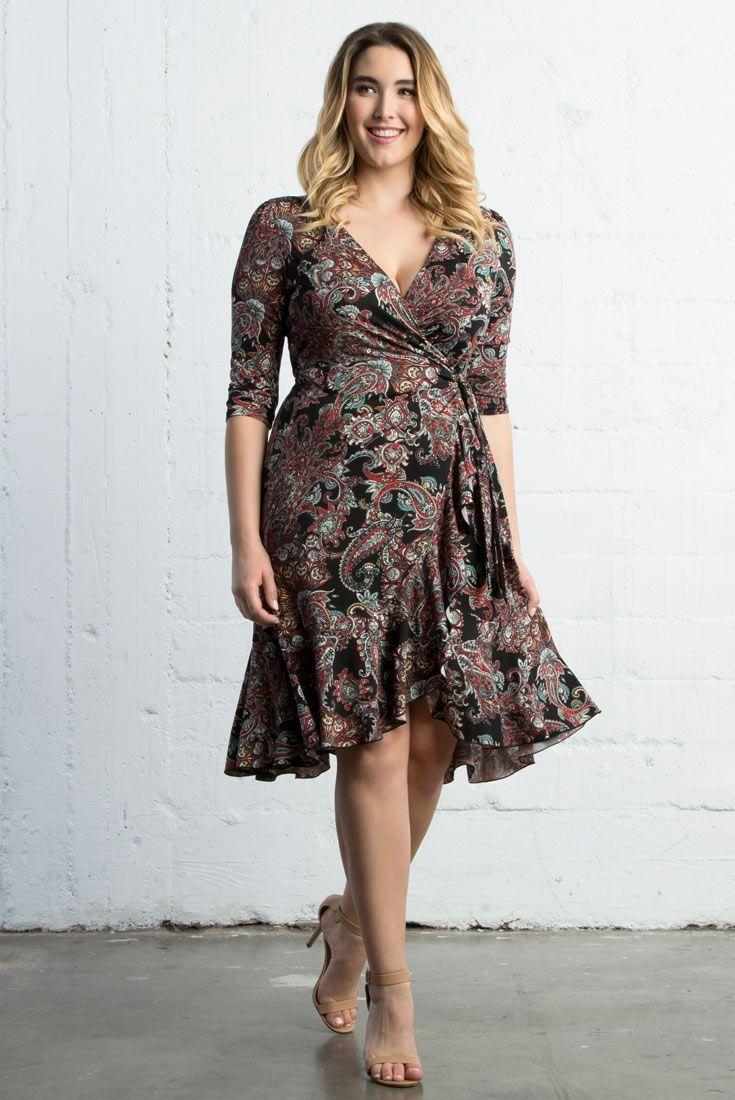 4b339f2d4453b Flirty Flounce Wrap Dress