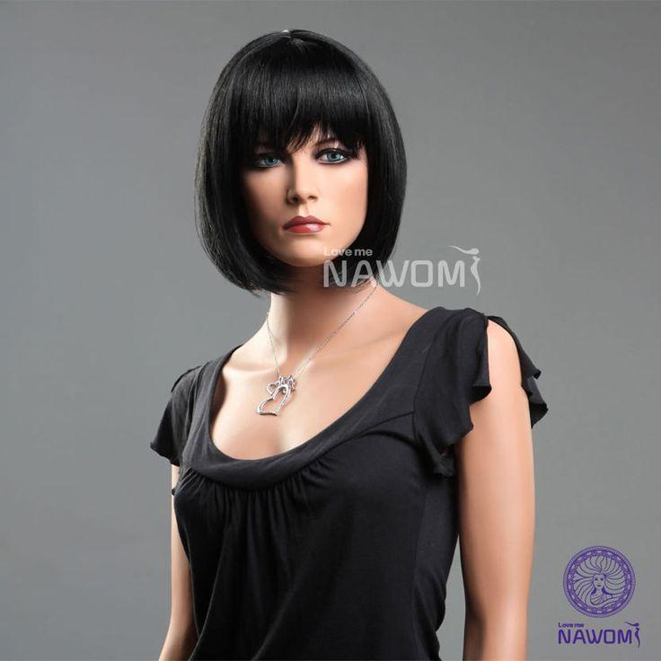 Hot sexy BOB wig short black wig full wig high-quality Japan Kanekalon+Track #FullWig  http://www.ebay.com/itm/Hot-sexy-BOB-wig-short-black-wig-full-wig-high-quality-Japan-Kanekalon-Track-/321146434432?pt=US_CSA_MWA_Wigs_Extensions&hash=item4ac5d1b380