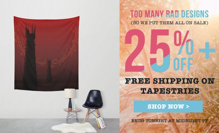 25% Off + Free Worldwide Shipping on Wall Tapestries - Sale Ends Tonight at Midnight PT! Dark Tower Wall Tapestry. #discount #gifts #sales #save #walltapestry #freeshipping #homedecor #moviewalltapestry #giftsforher #giftsforhim #society6 #moviegifts #lotrwalltapestry  #homedecor #homegifts