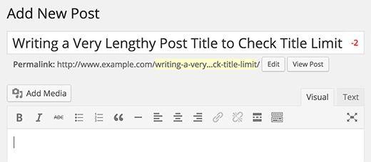 Add Character Limit to Post Titles in WordPress