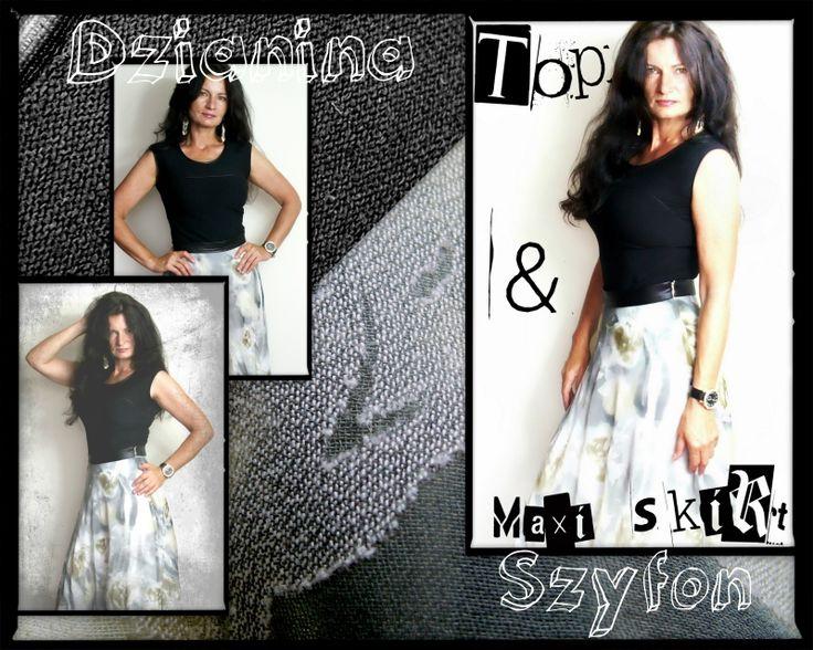 Szycie uzależnia: Black top & maxi skirt :)
