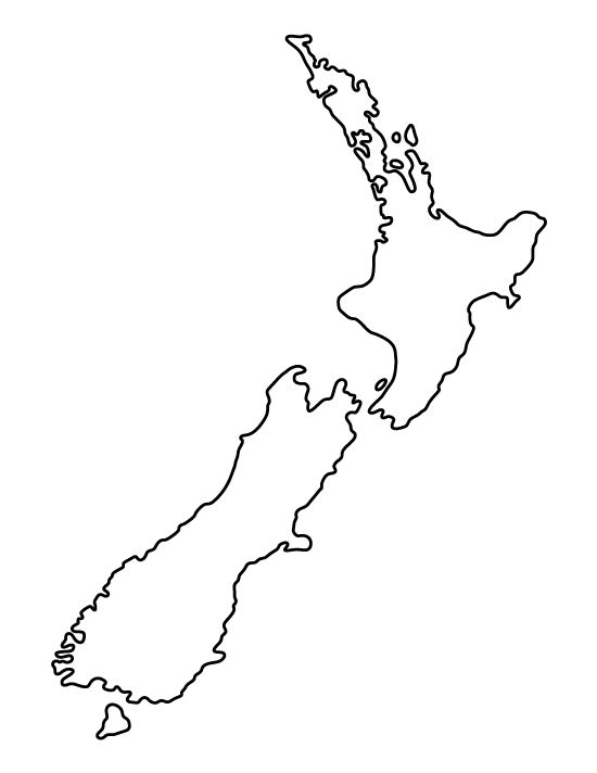 New Zealand pattern. Use the printable outline for crafts, creating stencils, scrapbooking, and more. Free PDF template to download and print at http://patternuniverse.com/download/new-zealand-pattern/