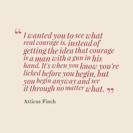 To Kill A Mockingbird: Courage of Atticus Finch