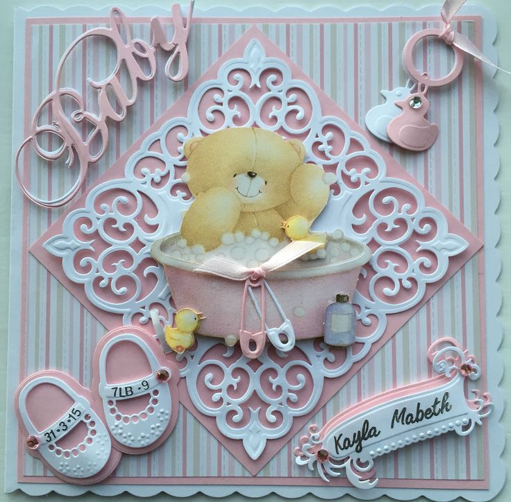 Baby card by Sospecial Cards. Forever Friends and Marianne Dies