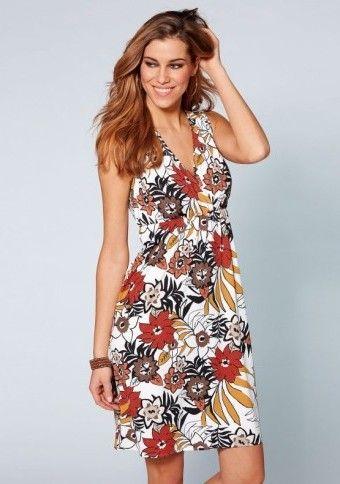 Šaty bez rukávov s potlačou #Modinosk #kvety xdress #saty