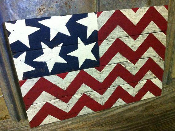 Pallet board Chevron Flag - Merica!