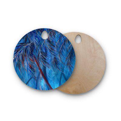 East Urban Home Rosie Birchwood Tropical Cutting Board Shape: Circle