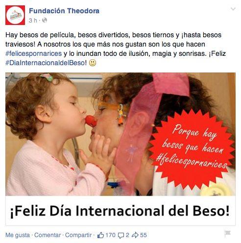 #DiaInternacionaldelBeso Fundación Theodora 2015 #dayketing - Día Mundial del beso