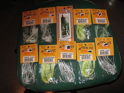 Other Baits Lures and Flies 31693: 10 Trolling Action Fly Fishing Lure Lot BUY IT NOW ONLY: $40.0