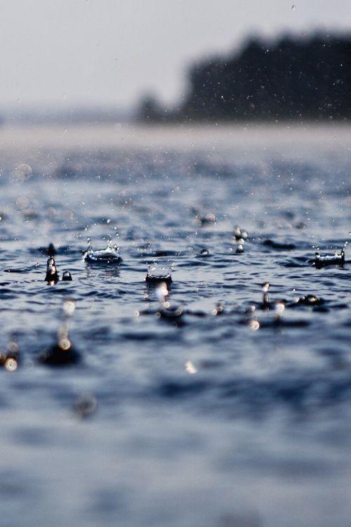 Rain on the Water. #rain #lake #water