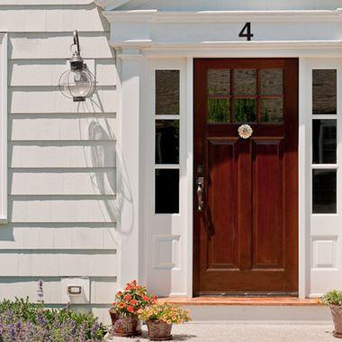 colonial front doors | The front door! Who doesn't love a good door? It is welcoming and ...