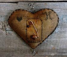 wonderful prim heart pinkeep