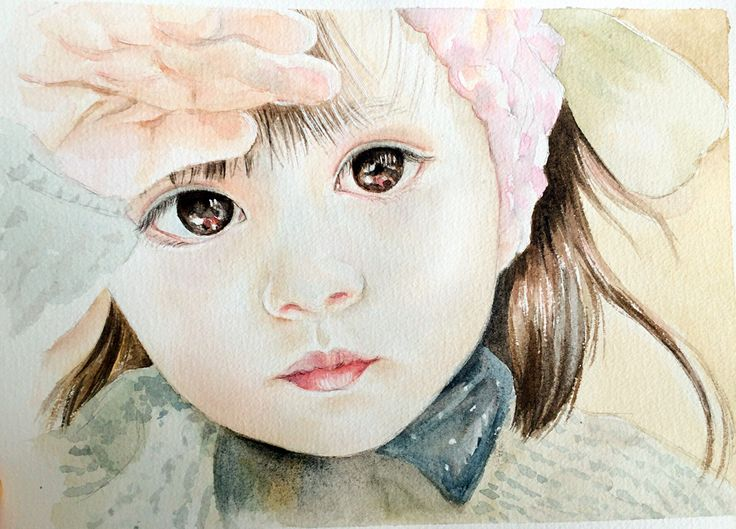 #watercolor #girl #fineart #sketch #illustration art work by Qianrong