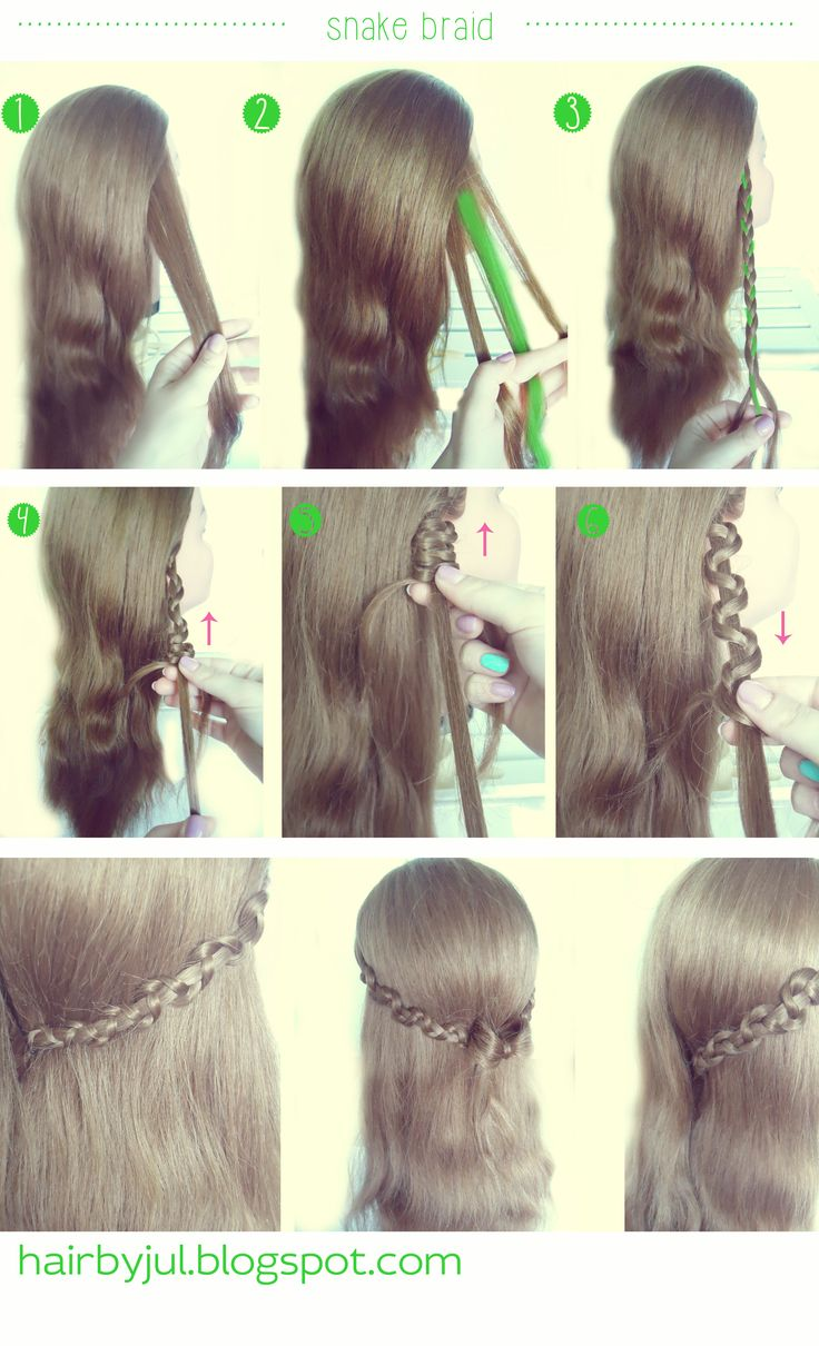 snake braid, diy, hairtutorial #snakebraid #warkocz #tutorial
