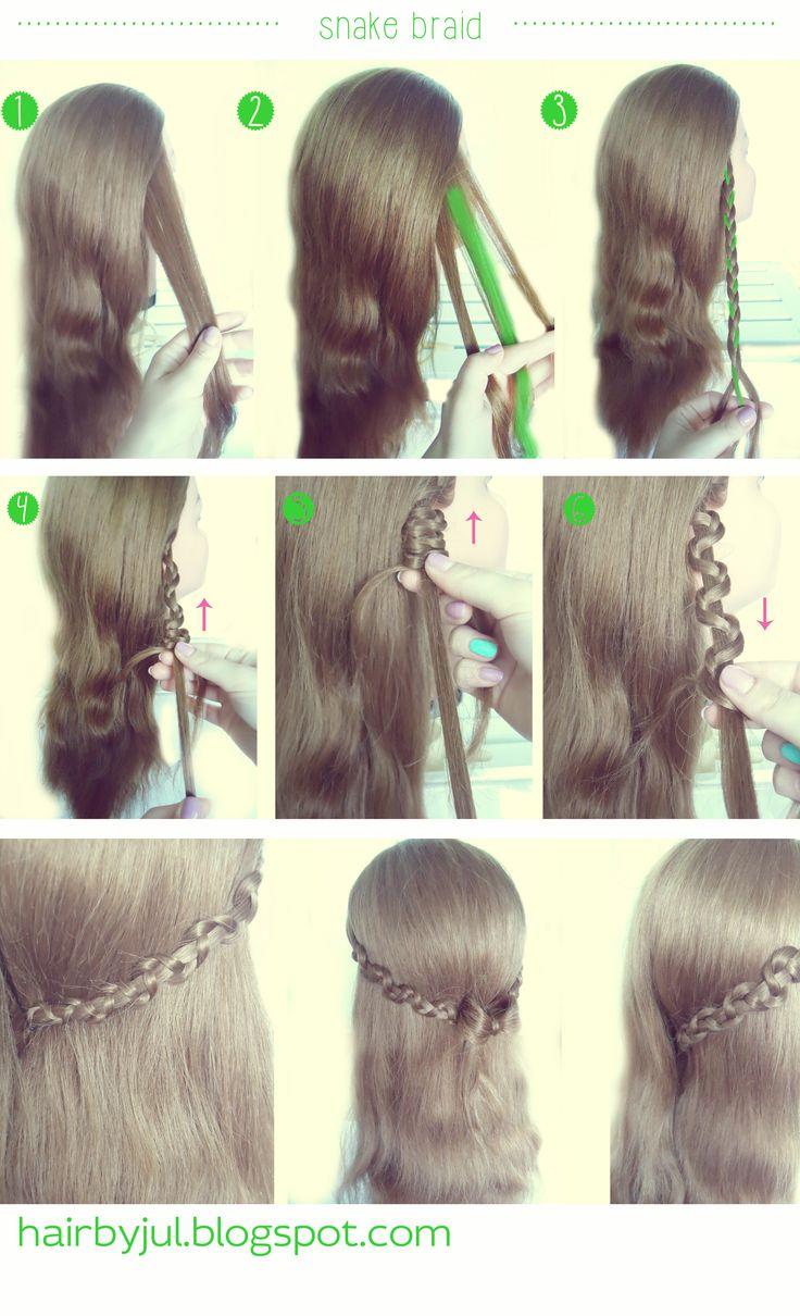 snake braid, diy, hairtutorial #snakebraid #warkocz #tutorial