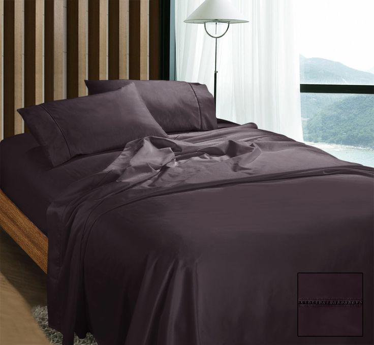 Egyptian Cotton Sateen Sheet Set 1100 Thread Count, 100% Egyptian Cotton. Flat, fitted with 40 cm wall & pillow cases.
