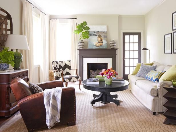 This living room mixes patterns perfectly. #hgtvmagazine http://www.hgtv.com/decorating-basics/a-house-that-plays-with-pattern/pictures/page-3.html?soc=pinterest