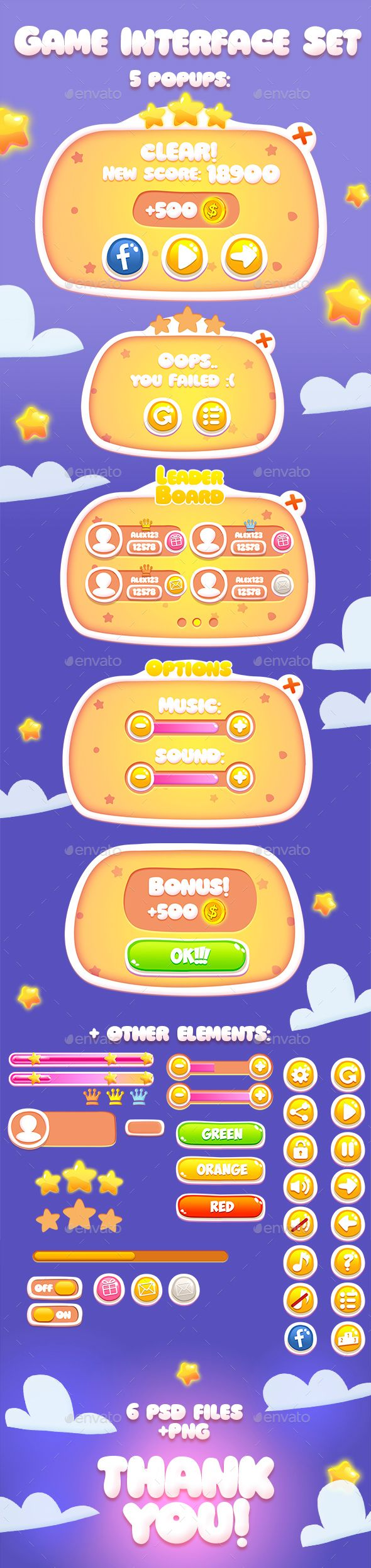 Casual Game Interface Kit PSD. Download here…