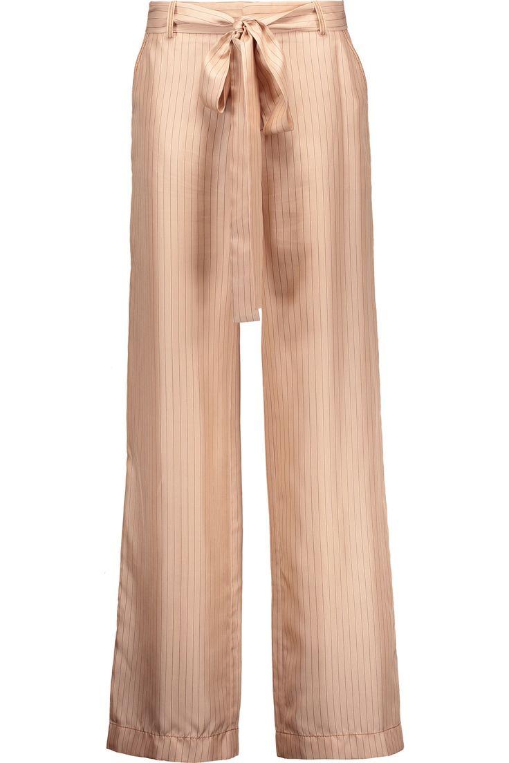 JUAN CARLOS OBANDO Beyamo Striped Silk Wide-Leg Pants. #juancarlosobando #cloth #pants