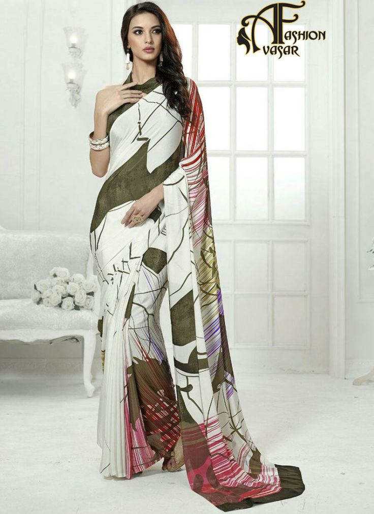 Printed Best Online Saree Shopping