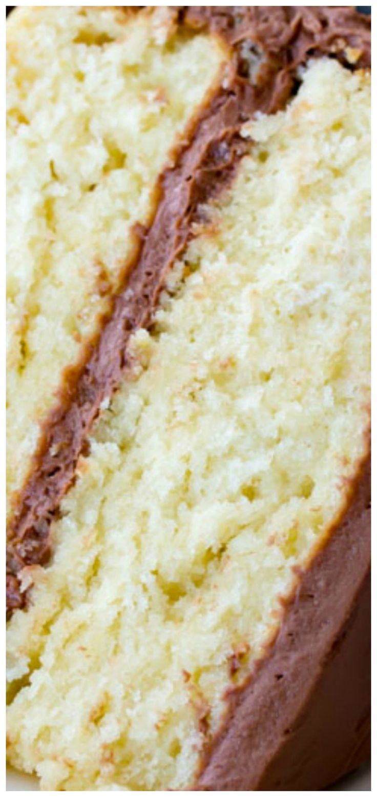 The Best Vanilla Cake ~ You'll love how easy, moist and fluffy this homemade vanilla cake is!