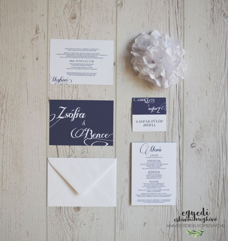 Minimal elegant wedding stationary