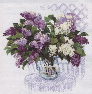 Lilacs - The Scent of Spring Cross Stitch Kit By Riolis