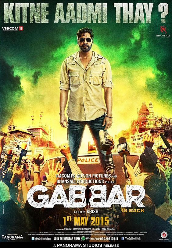 Gabbar Is Back 2015 720p Full HD Movie Free Download