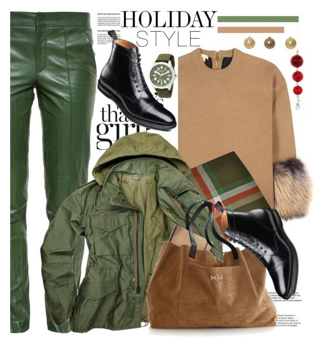 """""""Holiday Style: Leather Pants"""" by spenderellastyle ❤ liked on Polyvore featuring Michael Kors, Gucci, Pierre Cardin, Citizen, Shishi and holidaystyle"""