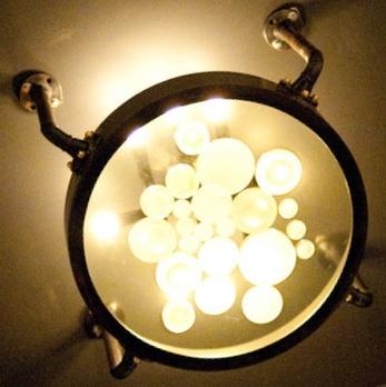 light fixtureModified Porthole, Lights Fixtures, Trav'Lin Lights, Light Fixtures, Porthole Ideas, Decor Stuff, Steampunk Bathroom