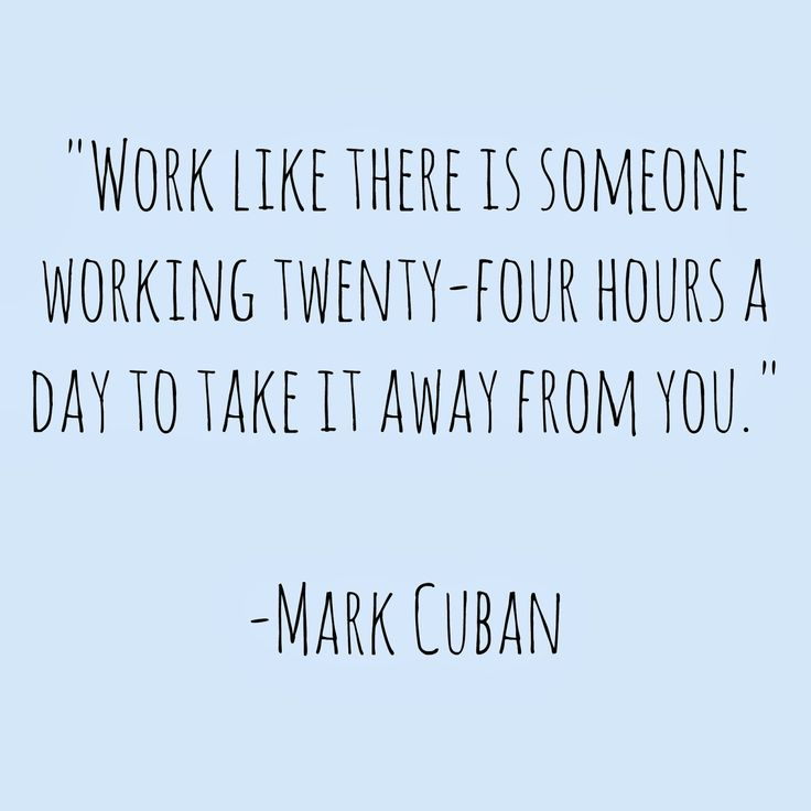If you're not willing to work like this, then there actually IS someone trying to take something away from you. It's you, trying to steal your own fucking happiness away from yourself.
