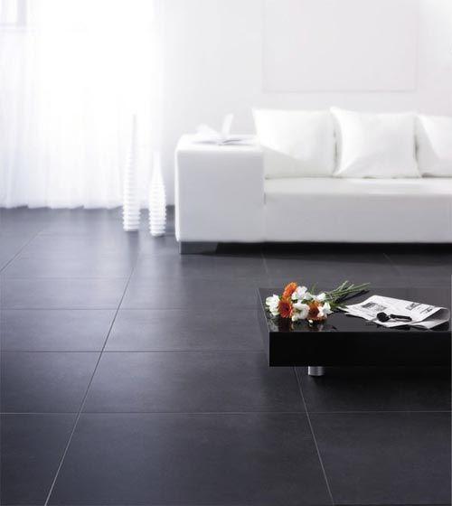 Salon quelles couleurs avec un carrelage noir for Carrelage york