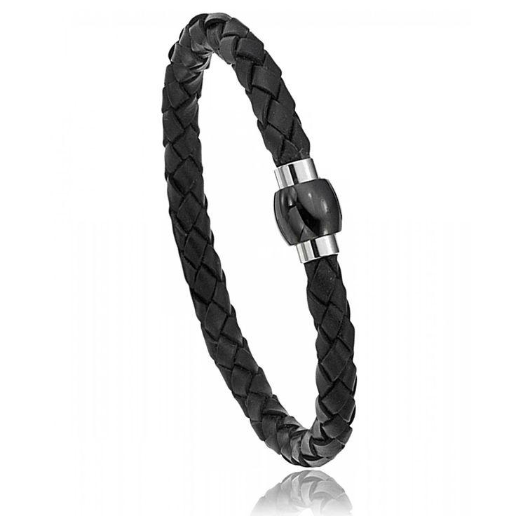 Men leather Verone black bracelets - Oxbow
